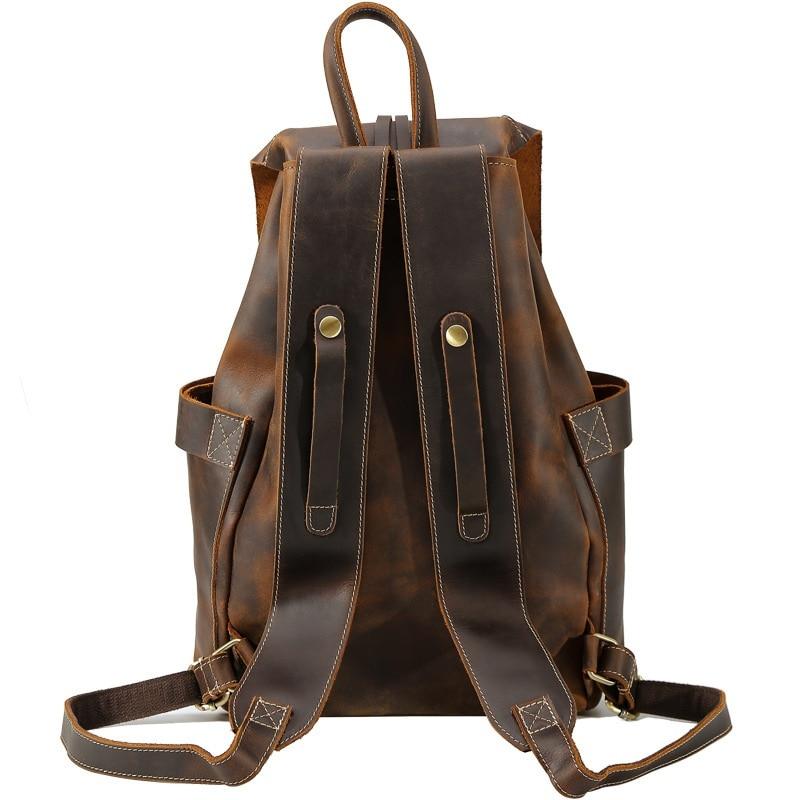 Horse Schokolade Crazy Leder Vintage Qualität Top Kuh Taschen Designer Schule Nieten Retro Daypacks Reise Yupinxuan Rucksäcke Echt USqAfnx