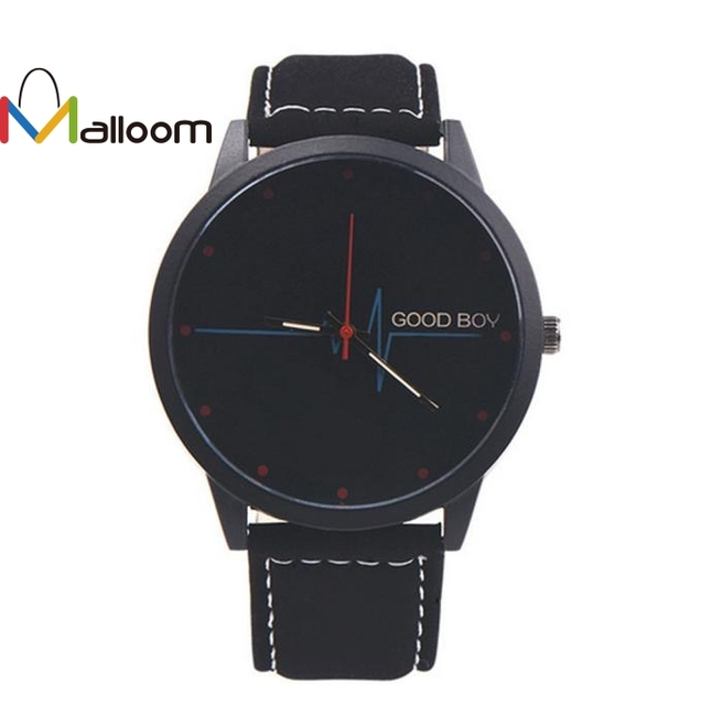 Malloom watch men luxury leather watch 2018 Stainless Steel watches for big wris