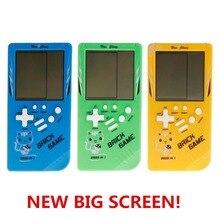 Большой экран Классическая портативная игровая машина тетрис кирпичная игра детская игровая машина 26 игр