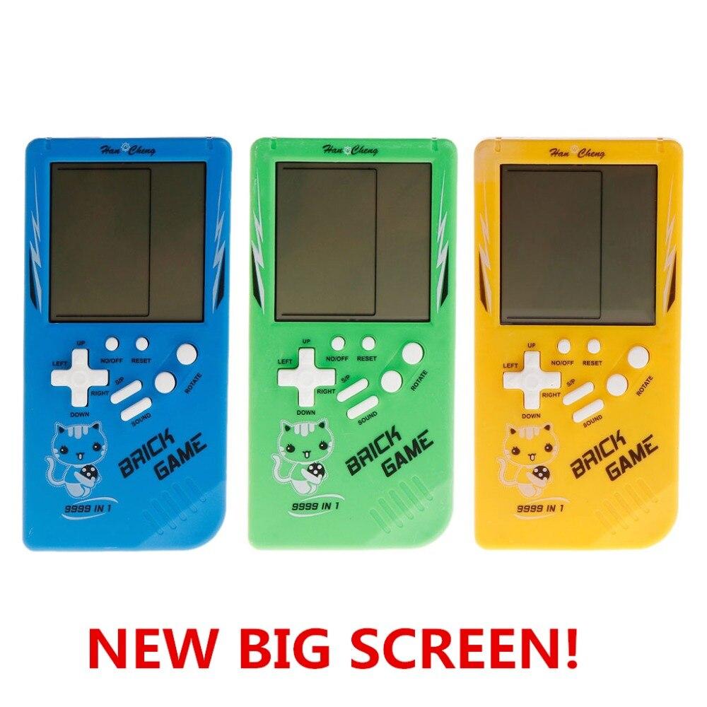 Grand écran classique jeu de poche Machine Tetris brique jeu enfants jeu Machine 26 jeux