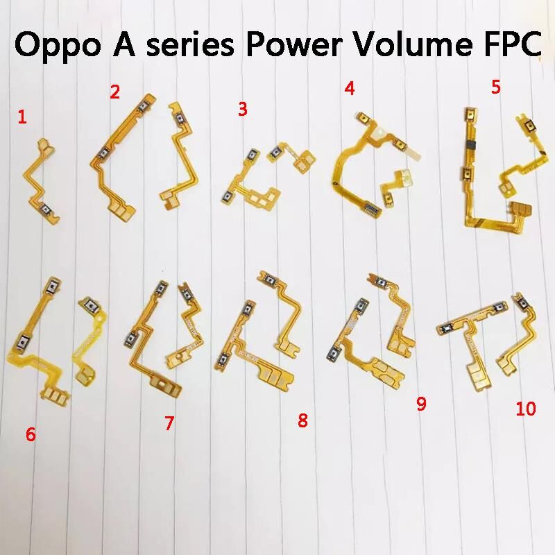OPPO A1/3/5/37/53/57/59/71/73/77/79/83 Power Volume Flex Cable Button <font><b>FPC</b></font> FFC PCB <font><b>Repair</b></font> Accessory <font><b>Connector</b></font> USB Charging Ring image