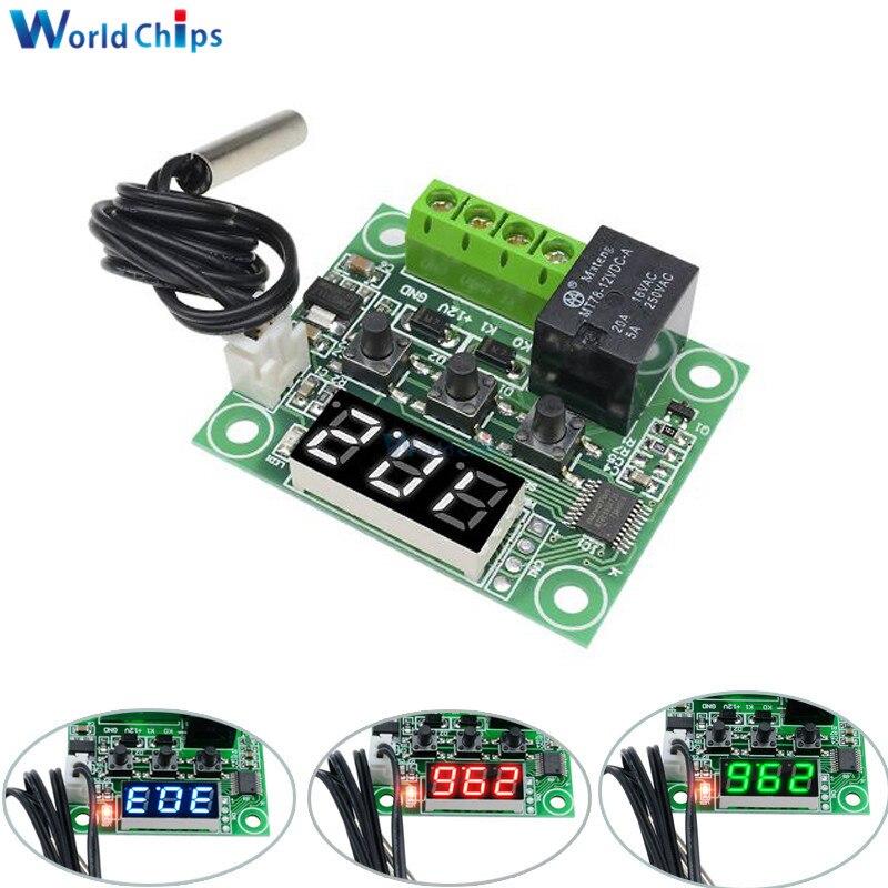 50-110° 12V W1209 Digital thermostat Temperature Control Switch Sensor+Case Hot