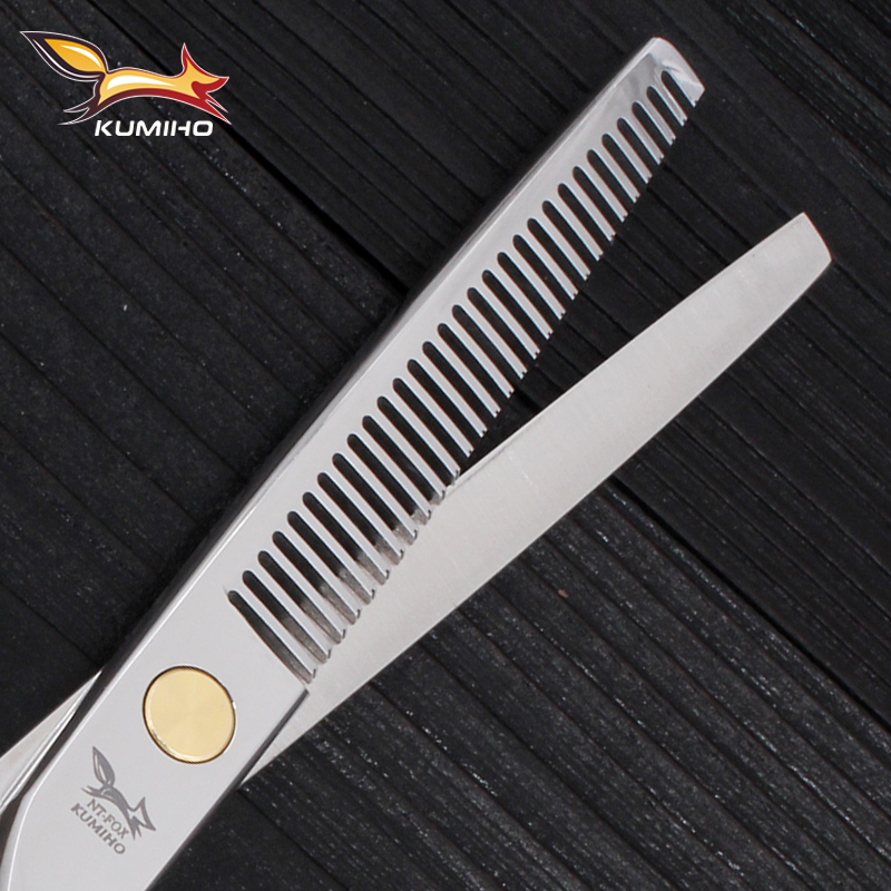 Купить с кэшбэком KUMIHO free shipping hair scissors with micro serrated blade professional hairdressing scissors high quality 6 inch 9cr13