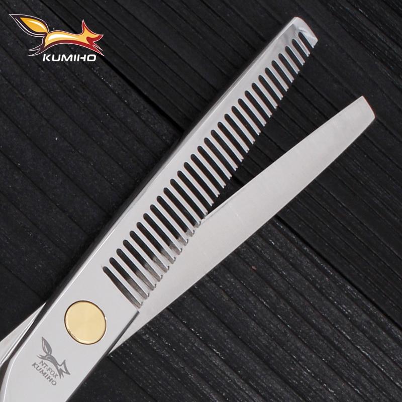Mikro serrated bıçaqla professional bərbər qayçı yüksək - Saç qayğı və üslubu - Fotoqrafiya 6