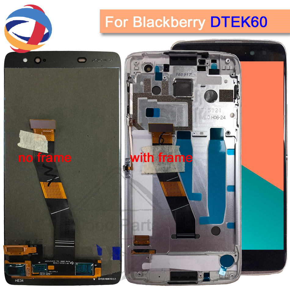 100 Test For Blackberry Dtek60 LCD Display Touch Screen Digitizer Assembly Replacement Parts For BlackBerry Dtek60