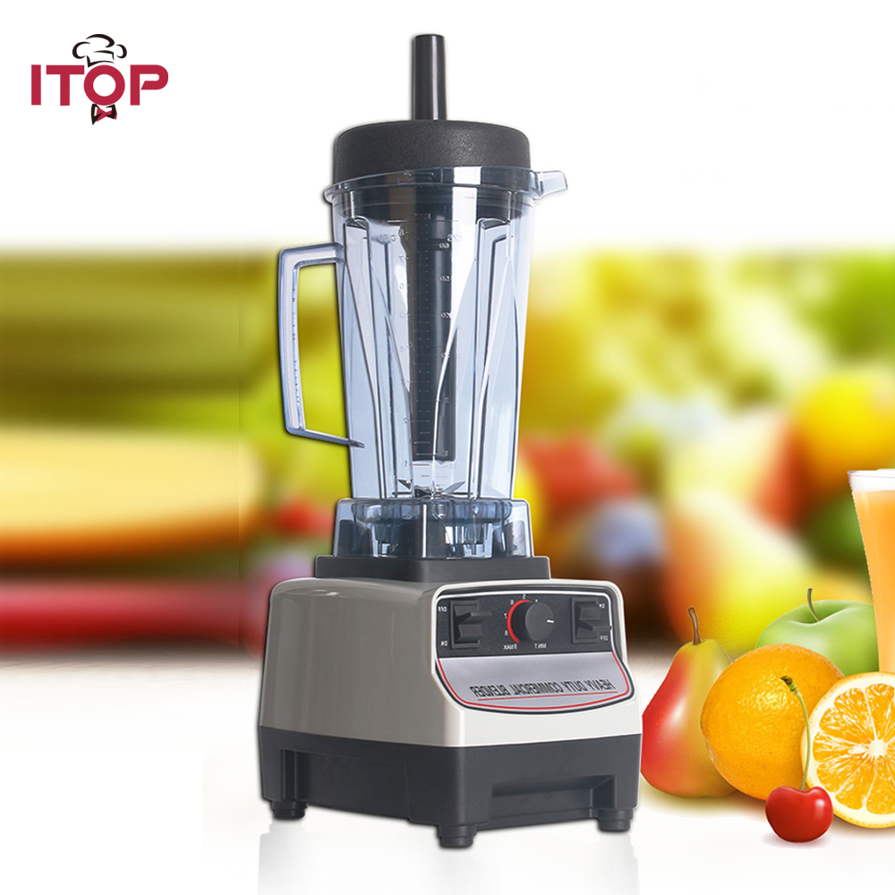 ITOP Heavy Duty Commercial Blender Machine BPA Free Professional Blender Mixers Fruit Juicer Food Processors EU/UK/US Plug цена и фото