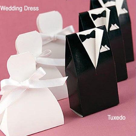120 unids Tuxedo y novia vestido de diseño regalos de Chocolate ...