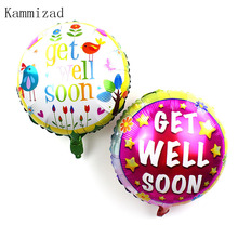 Wholesale 50pcs/lot 18 inch Get Well Soon Wishes foil Balloons bird helium Balloon Birthday Party Supplies pink Cartoon Globos