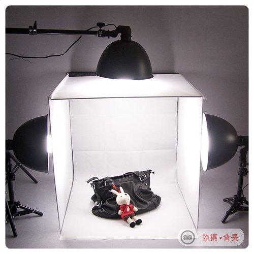 portable mini photo studio set 50cm dome light softbox lambed shed photography light box 4 flock. Black Bedroom Furniture Sets. Home Design Ideas