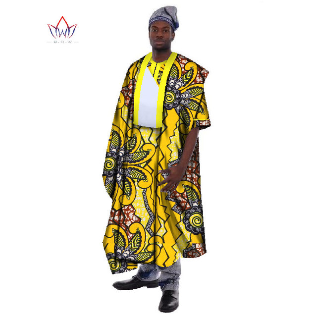 5d7ca99834c Traditional African Clothing Mens Robes Print Wax Loose Half Sleeve Thobe  Print Robes Africa Clothing Plus Size 6XL WYN19