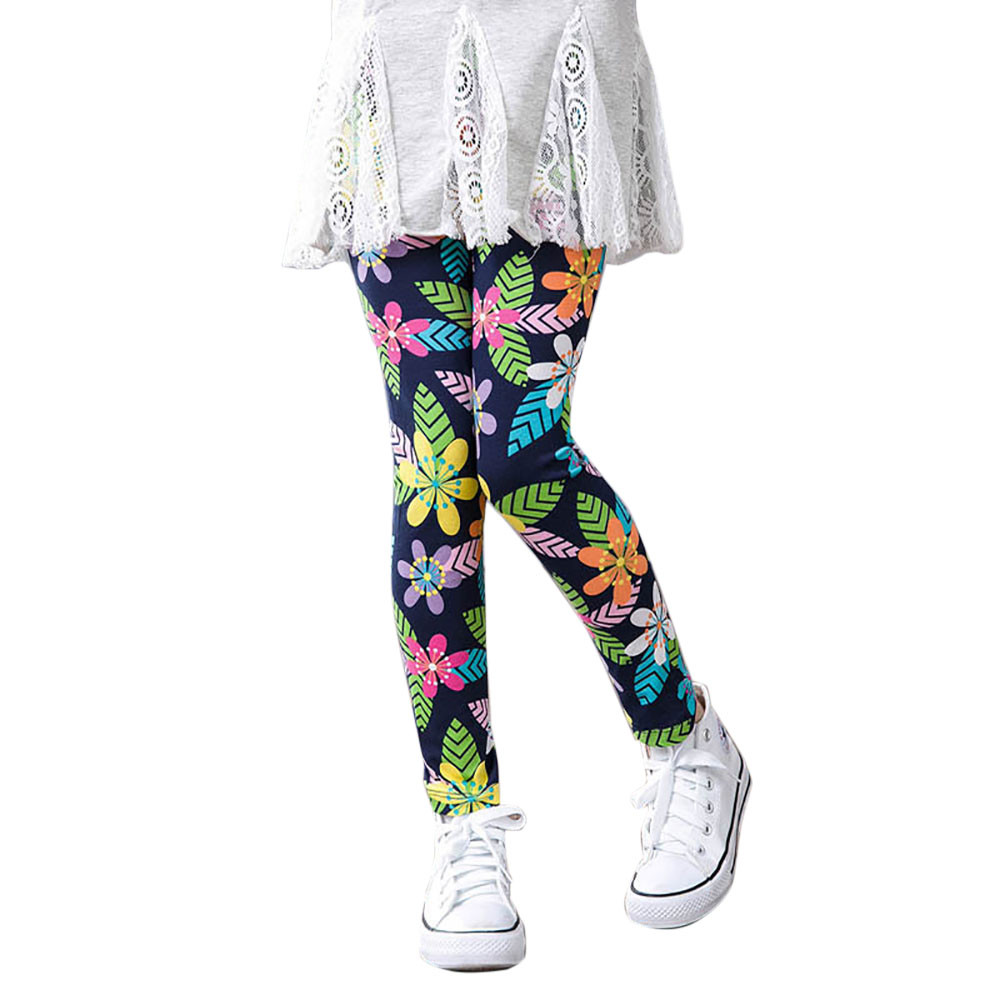 Legginsy Dla Dziewczynki Autumn Winter 2018 Children Trousers Christmas Leggings Flower Kids Leggings For Girls Baby