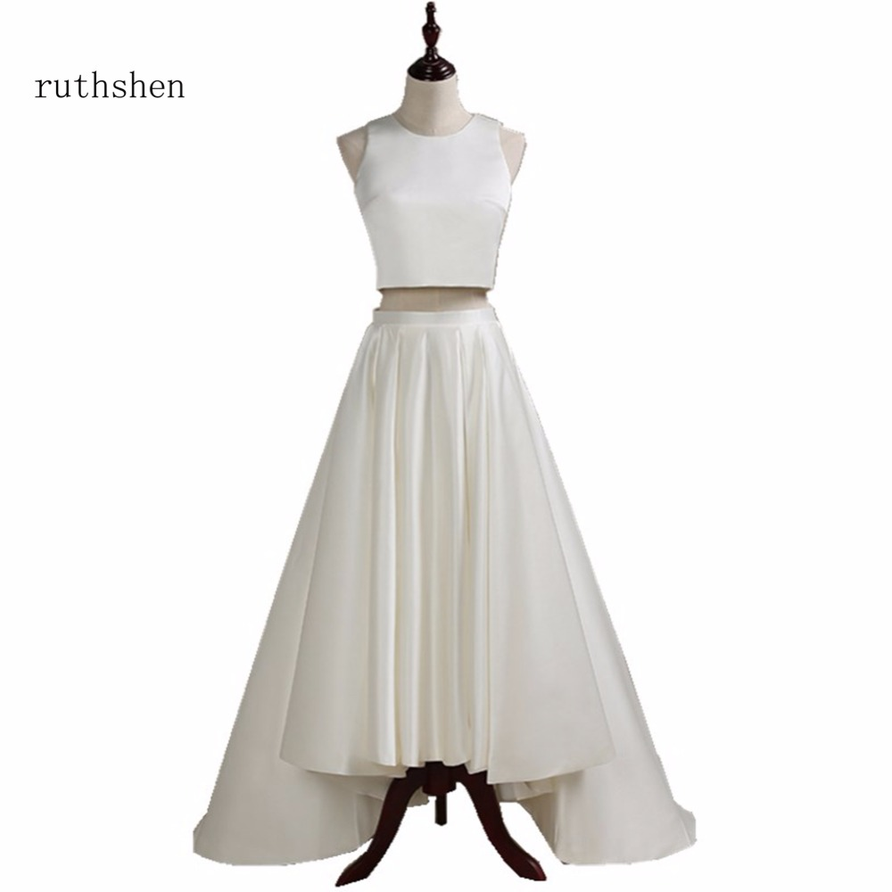 ruthshen Cheap Prom Dresses With Bateau Neck Sleeveless Two Pieces ...