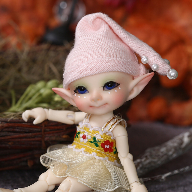Realpuki Pupu FreeShipping Fairyland FL Doll BJD 1/13 Pink Smile Elves Toys for Girl Tiny Resin Jointed Doll
