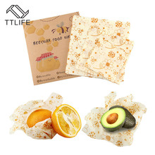 TTLIFE Reusable Silicone Wrap Seal Food Fresh Keeping Lid Cover Stretch Vacuum Beeswax Cloth 3 Sizes Kitchen Tool