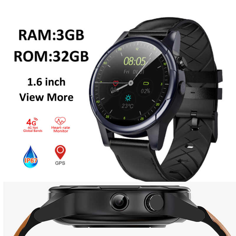 f4be0734c ... Smartwatch 3GB+32GB larger memory GPS WIFI Smart watch 4G MTK6739 Android  watch camera sports ...