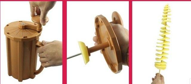 Machine à pommes de terre torsadée Tornado | Saucisse, coupe-pomme de terre, machine à twister, machine à pommes de terre en spirale, machine à pommes de terre