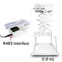 1M telescopic automatic projector shelf ceiling retractable lifting hidden intelligent central control projector shelf