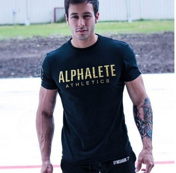 Krásne pánske fitness slim fit tričko Alphalete – 5 farieb