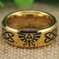 YGK Tungsten Ring YGK JEWELRY Hot Sales Legend Of Zelda/Scroll The Lord New Men's Gold Color Tungsten Wedding Ring