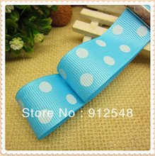 Free shipping 1″ (25mm) Grosgrain ribbon Polka Dots printed with white dots, DIY hairbow accessories, gift package,DXYD25