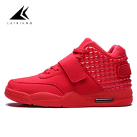 Oulan Large Size Red Mens Basketball Shoes Zapatillas Hombre High Top Lace Up Air Force Sport