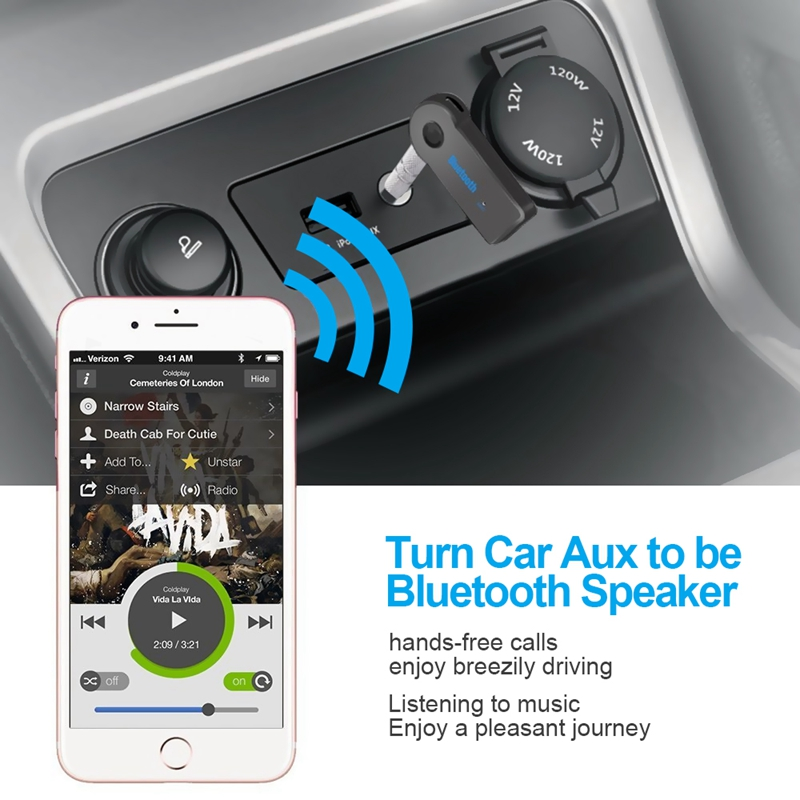 Image 3 - Bluetooth Wireless for Car Music Audio Stereo 3.5mm Bluetooth Receiver Adapter Aux For Headphone Reciever Jack Handsfree-in USB Bluetooth Adapters/Dongles from Computer & Office
