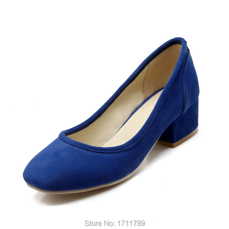 new fashion spring autumn shoes women pumps square toe low heels single shoes flock office lady shoes small big size 32-43 0112 memunia 2017 fashion flock spring autumn single shoes women flats shoes solid pointed toe college style big size 34 47