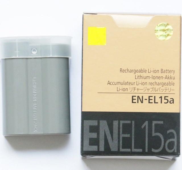EN EL15A ENEL15A EN EL15A Pin Gói Đối Với Nikon Máy Ảnh D850 D7000 D600 D810 D750 D610 D7500 D7200 MH 25 MB D15 EN EL15