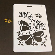 Cute Butterfly Reusable Stencil For Scrapbooking Stamping Embossing Paper Card Drawing Template Stencil Crafts Stencil Plastic butterfly reusable stencil for scrapbooking stamping embossing paper card drawing template stencil crafts bullet journal stencil