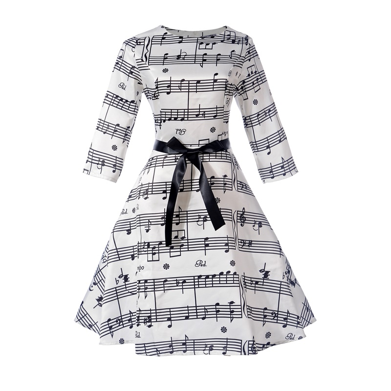 New 12-20 yrs girl Print Dresses Flower Dress Female Vestido A-Line Casual Floral Knee Dress