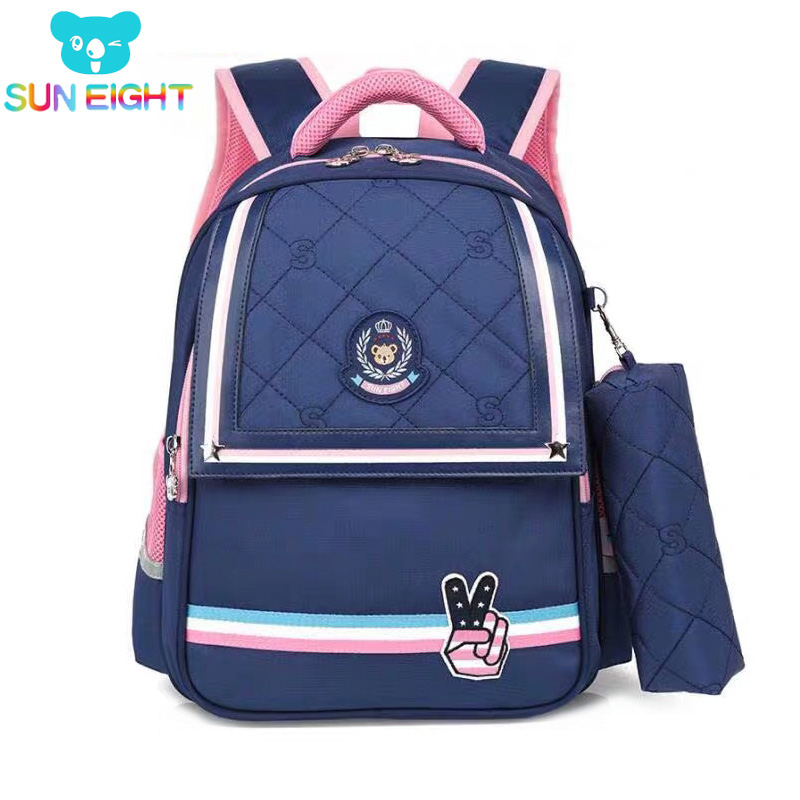 SUN EIGHT 1 2 Grade 15inch Girls Backpack School Bags For Kid Light Books Bag  Wholesale Price-in School Bags from Luggage & Bags