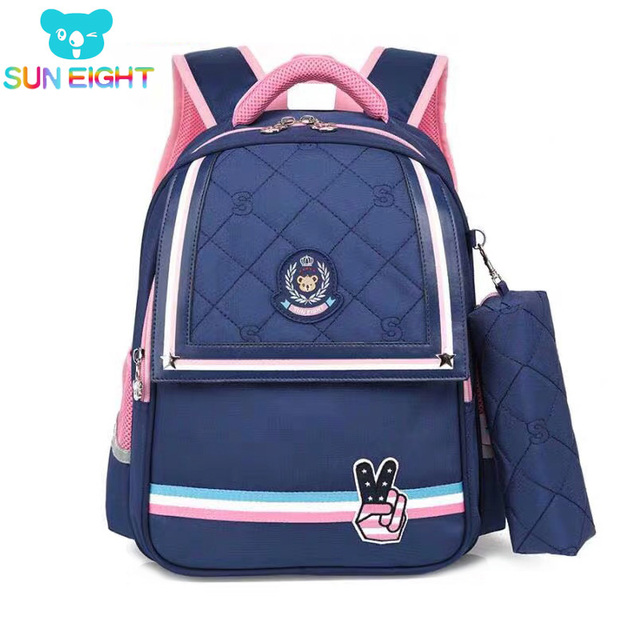 SUN EIGHT 1 2 Grade 15inch Girls Backpack School Bags For Kid Light Books Bag  Wholesale Price