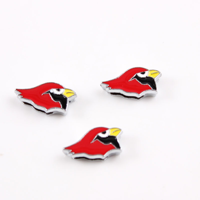 Arizona Cardinals Slider Charms Alloy Enamel Slide Charms For American Football Fans Bracelet Necklace Jewelry