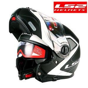 Image 2 - LS2 FF325 стробоскоп С Откидывающейся Крышкой Moto rcycle шлем для мужчин модульный гоночный шлем capacete ls2 шлем casco moto cascos para moto DOT casque moto