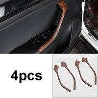 4 шт. для SKODA KODIAQ двери автомобиля перила декоративные полосы узор из красного дерева интерьера