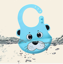 Cartoon Prints Kids Silicon Bib Baby Childrens summer Adjustable Waterproof Feeding Tools Boy Girl Bibs apron DS19