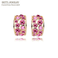 2015 New Women Multicolor Crystal Earrings With Crystals From Swarovski For Valentine S Day Gift