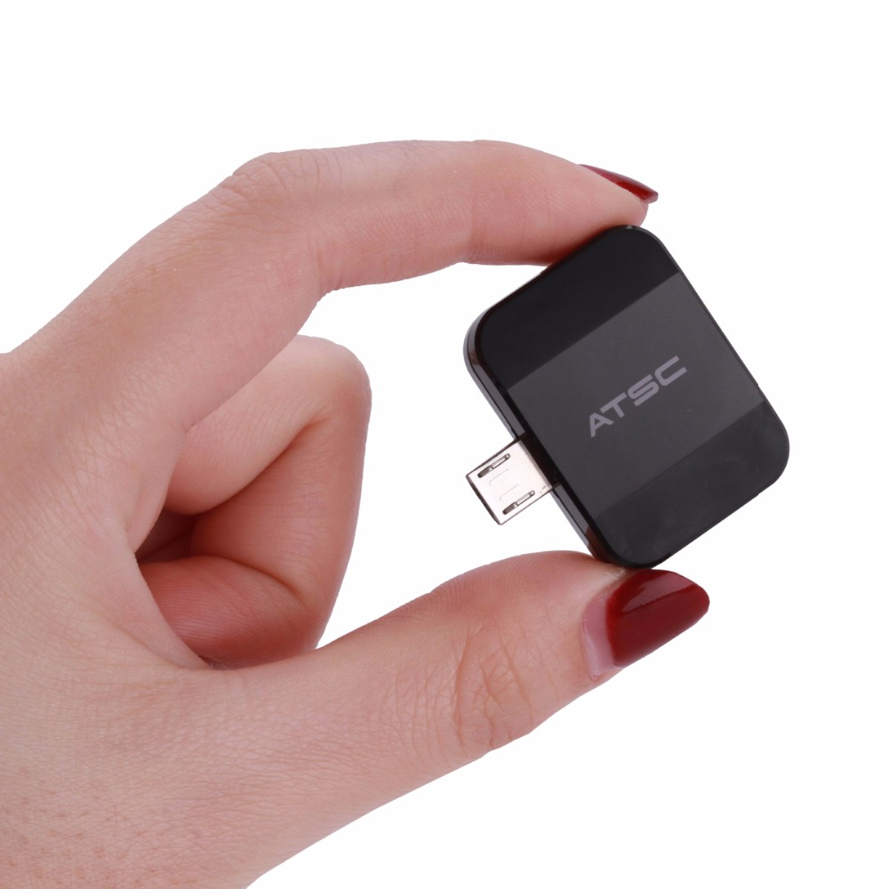 ATSC Pad TV tuner Watch free live TV on your Android phone or tablet through micro USB OTG for USA /Mexico /Canada 21