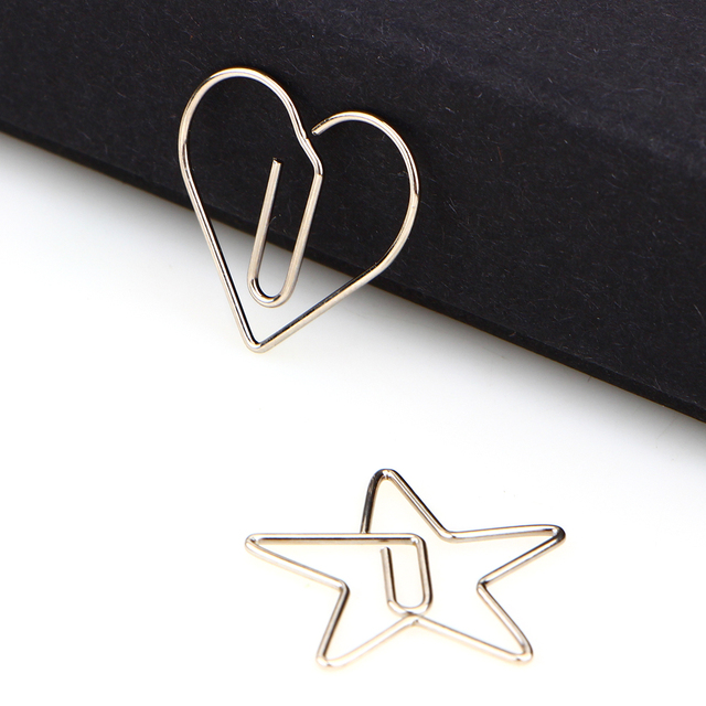 Фото 10pcs/pack metal animal shape paper clip hollow out memo bookmarks