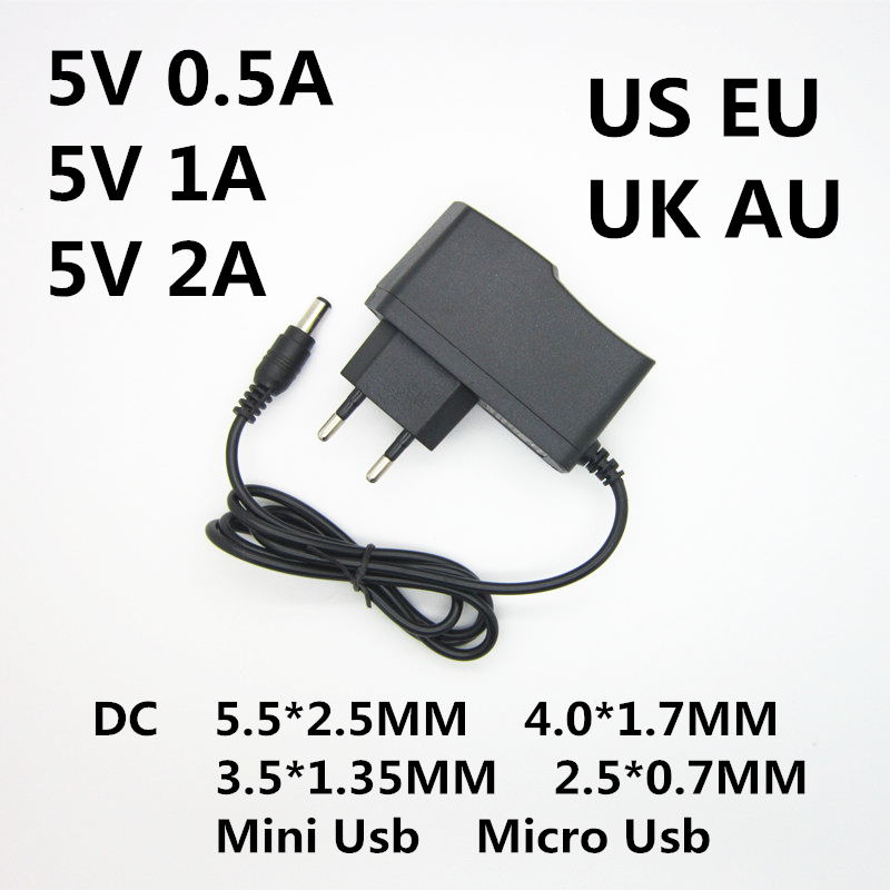 DC 5V 0.5A 0.8A 1A 2A 2.5A 3A AC 100-240V Converter power Adapter 5 V Volt 1000MA Switch Power Supply Charger Mini Micro Usb-1