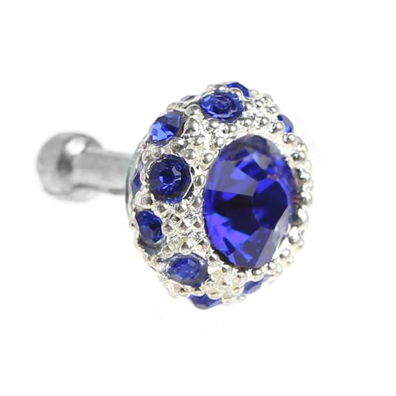 Colorful Rhinestone Ball 3.5mm Anti Dust Plug Earphone Stopper For Smart Phone