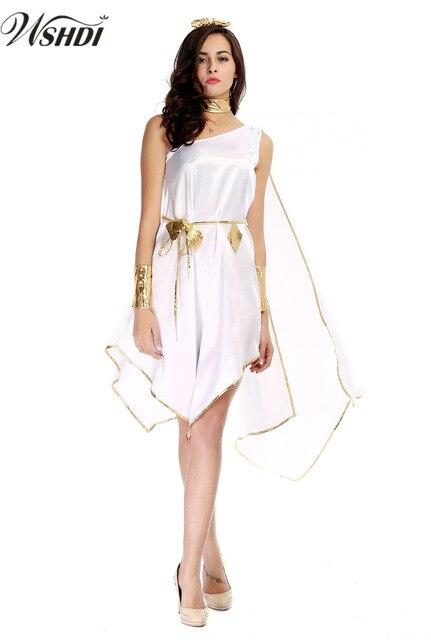Sexy Weiß Damen Griechische Göttin Kostüme Halloween Karnevalsparty ...