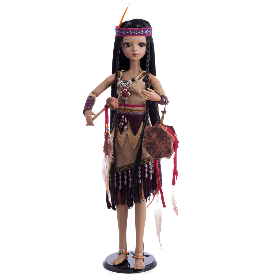 Princess Anna bjd doll sd 60 cm 1/3 native American indian doll tan girl toys for children collectionPrincess Anna bjd doll sd 60 cm 1/3 native American indian doll tan girl toys for children collection