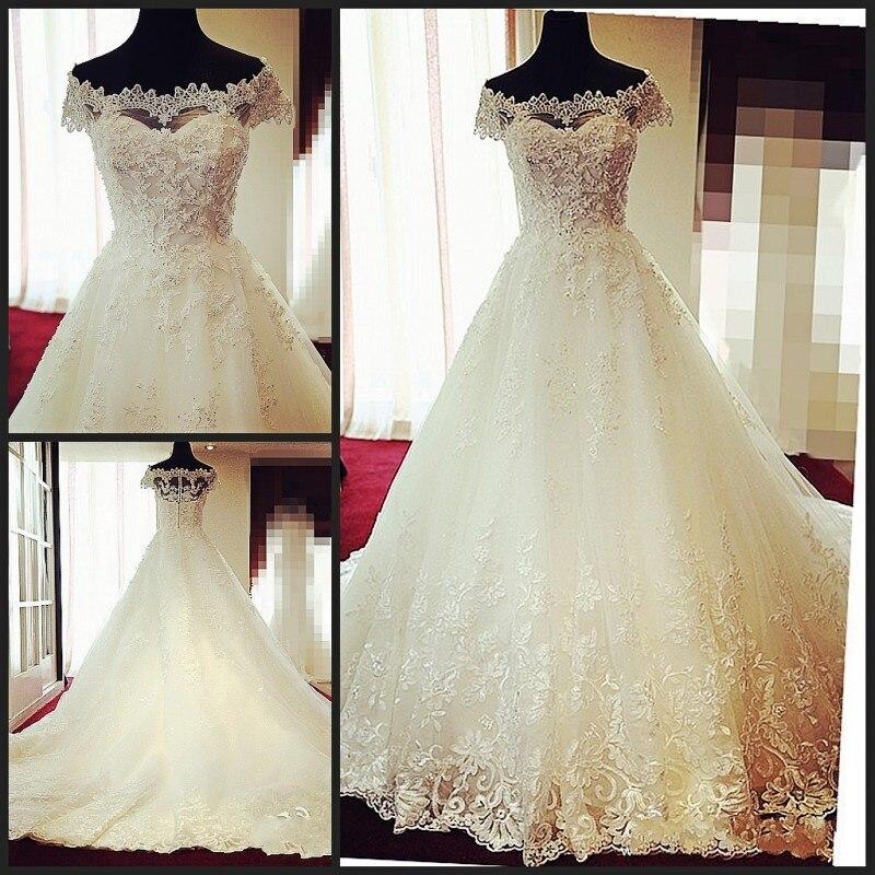 40bac132d9d28 خمر فستان الزفاف الدانتيل يزين الزفاف أثواب العروس فساتين قبالة الكتف  Vestido دي Novia M98