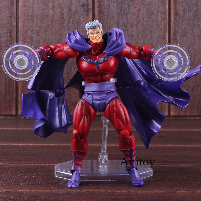 Marvel Comics X Men Avengers Magneto Figma Series NO.006 PVC XMen  Amazing Yamaguchi Figure Collectible Model ToyAction & Toy Figures   -