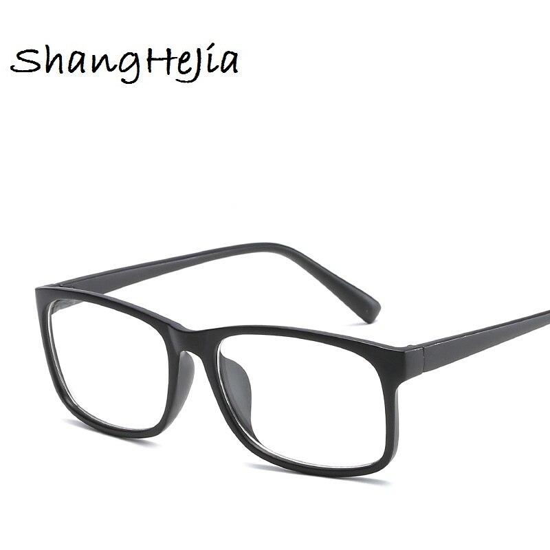2018 Classic Male Square Eyeglasses Frame Brand Designer Fashion Women Nail Decoration Optical Glasses Reading Glasses