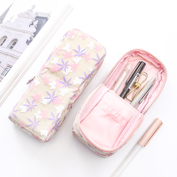 MIRUI novelty student pencil bag turned canvas student storage pen holder simple stationery bag large capacity pencil case gifts simple camouflage pencil case small fresh large capacity pen box student student stationery bag pencil bag orange