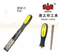 встряхнуться тайвань сделало т12 специальная сталь, закаленная двухцветный мягкая резиновая ручка 150 мм круглые файлы, № 07341 бесплатная доставка