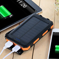 Portable Solar Power Bank Waterproof 10000mAh Solar Charger Dual USB Ports external Battery powerbank with LED For Smartphones