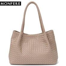 MONFERE Women Vegan Leather Handbag Female Large Totes High